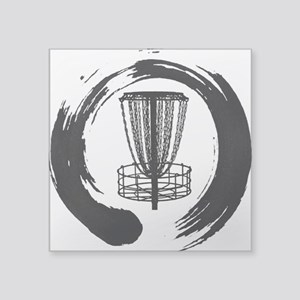 Zen And The Art Of Disc Golf Black Sticker