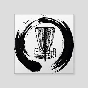 Zen And The Art Of Disc Golf Black Sticker