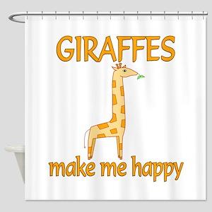 Giraffe Happy Shower Curtain