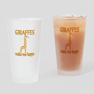 Giraffe Happy Drinking Glass