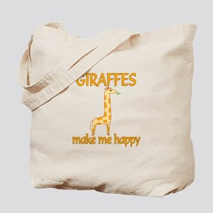 Giraffe Happy Tote Bag