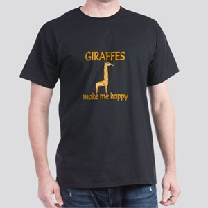 Giraffe Happy Dark T-Shirt