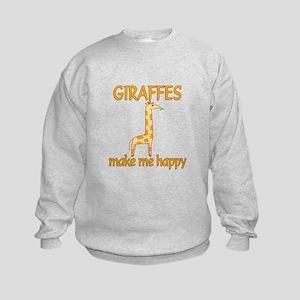 Giraffe Happy Kids Sweatshirt