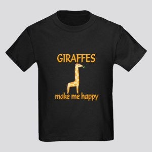 Giraffe Happy Kids Dark T-Shirt