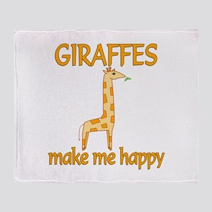 Giraffe Happy Throw Blanket