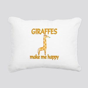 Giraffe Happy Rectangular Canvas Pillow