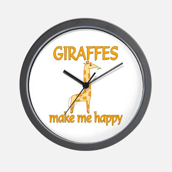 Giraffe Happy Wall Clock