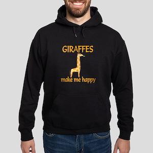 Giraffe Happy Hoodie (dark)