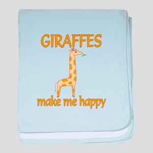 Giraffe Happy baby blanket