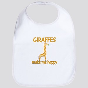 Giraffe Happy Bib