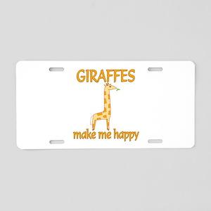 Giraffe Happy Aluminum License Plate
