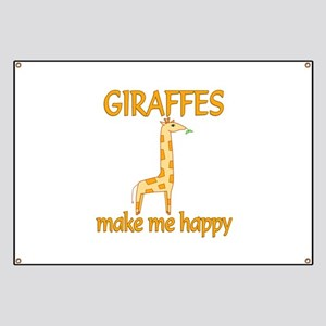 Giraffe Happy Banner