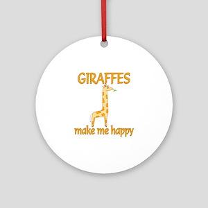 Giraffe Happy Ornament (Round)