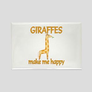 Giraffe Happy Rectangle Magnet