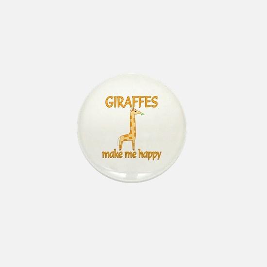 Giraffe Happy Mini Button