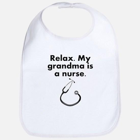 Relax My Grandma Is A Nurse Bib
