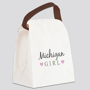 Michigan Girl Canvas Lunch Bag