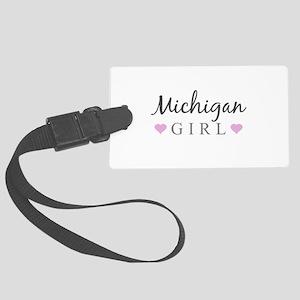 Michigan Girl Large Luggage Tag