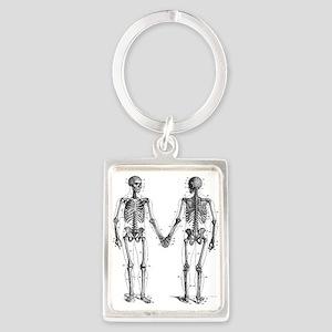 Skeletons Portrait Keychain