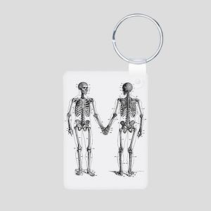 Skeletons Aluminum Photo Keychain