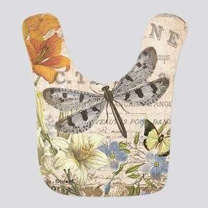 modern vintage French dragonfly Bib