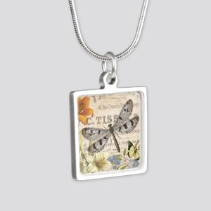 modern vintage French dragonfly Necklaces