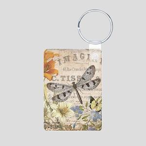 modern vintage French dragonfly Keychains