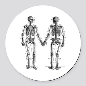 Skeletons Round Car Magnet