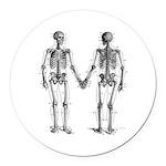 Skeletons Round Car Magnet