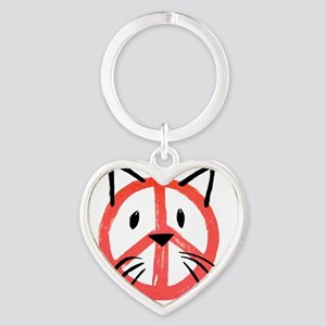 peace cat Keychains