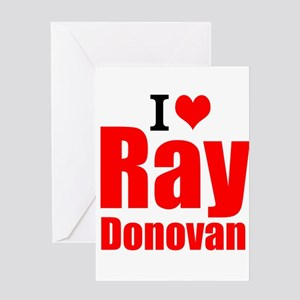 I Love Ray Donovan Greeting Cards