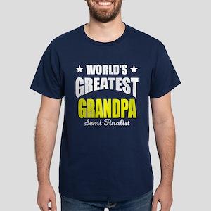 Greatest Grandpa Semi-Finalist Dark T-Shirt