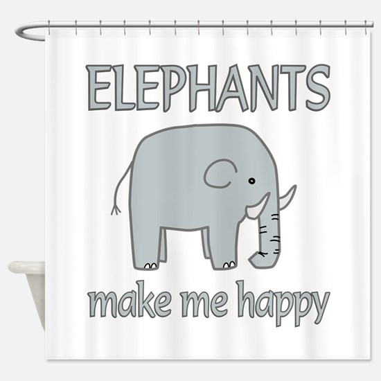 Elephant Happy Shower Curtain