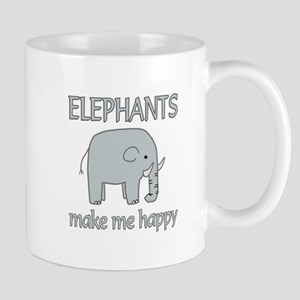 Elephant Happy Mug