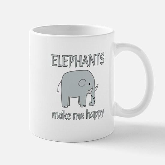 Elephant Happy Mug