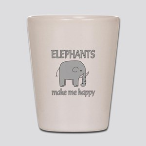 Elephant Happy Shot Glass