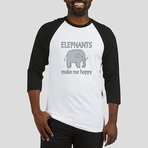 Elephant Happy Baseball Jersey