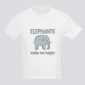 Elephant Happy Kids Light T-Shirt
