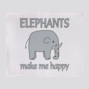 Elephant Happy Throw Blanket