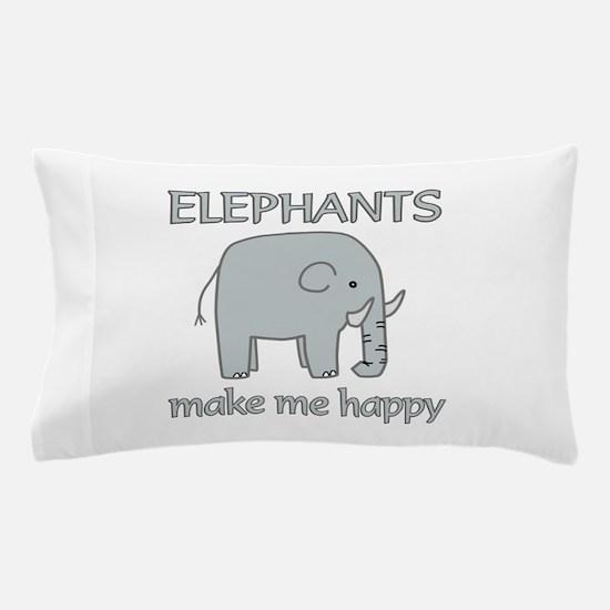 Elephant Happy Pillow Case