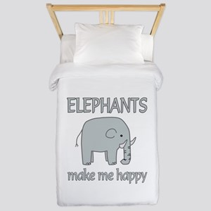 Elephant Happy Twin Duvet