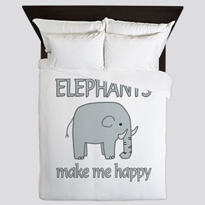 Elephant Happy Queen Duvet