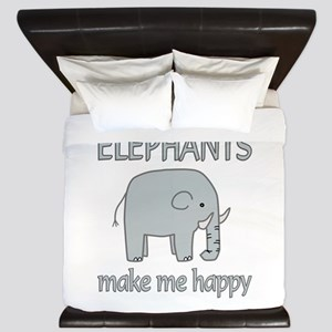 Elephant Happy King Duvet