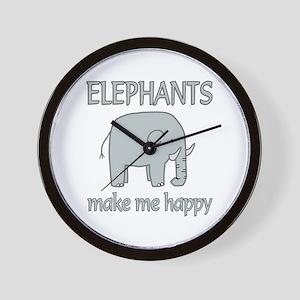 Elephant Happy Wall Clock