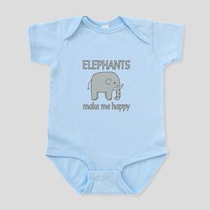 Elephant Happy Infant Bodysuit