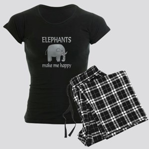 Elephant Happy Women's Dark Pajamas