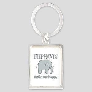 Elephant Happy Portrait Keychain