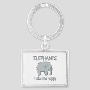 Elephant Happy Landscape Keychain