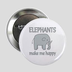 "Elephant Happy 2.25"" Button"
