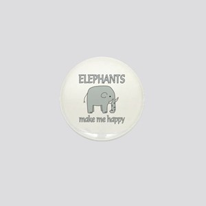 Elephant Happy Mini Button